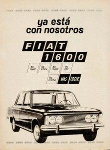 Publicidad Fiat 1600 Panorama 28 oct 1969