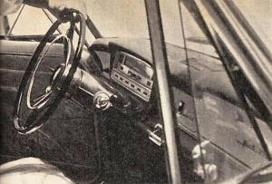 Tablero del Fiat Gran Clase de 1963 fabricado en Argentina. La fotografía es de la revista Parabrisas número 42 de mayo de 1964.