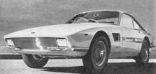 TVR Trident prototipo del año 1965 presentado en el Salón de Ginebra en el mismo año. Foto de la revista Parabrisas número 57 del mes de agosto de 1965.