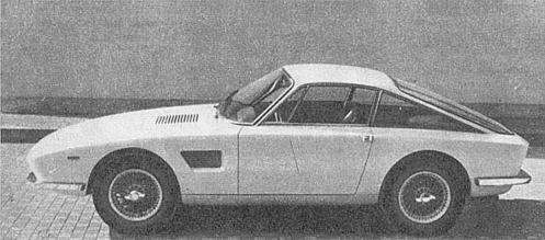El TVR Trident de 1965 visto de perfil. Foto de la revista Parabrisas número 57 del mes de agosto de 1965.