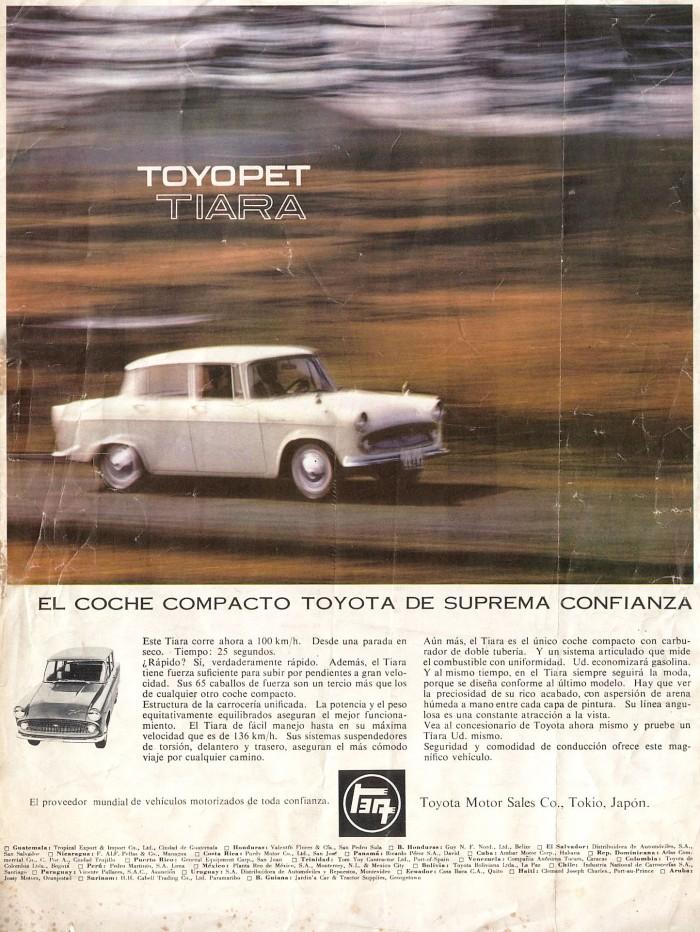 Publicidad Toyotopet Tiara 1963