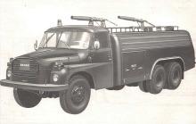 Vista de perfil izquierdo de la autobomba Tatra CAS 32 T 148 de Checoslovaquia. Fotografía de un folleto de la empresa Motokov.