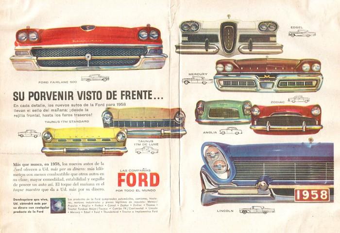 Publicidad trompas Ford Selecciones enero 1958