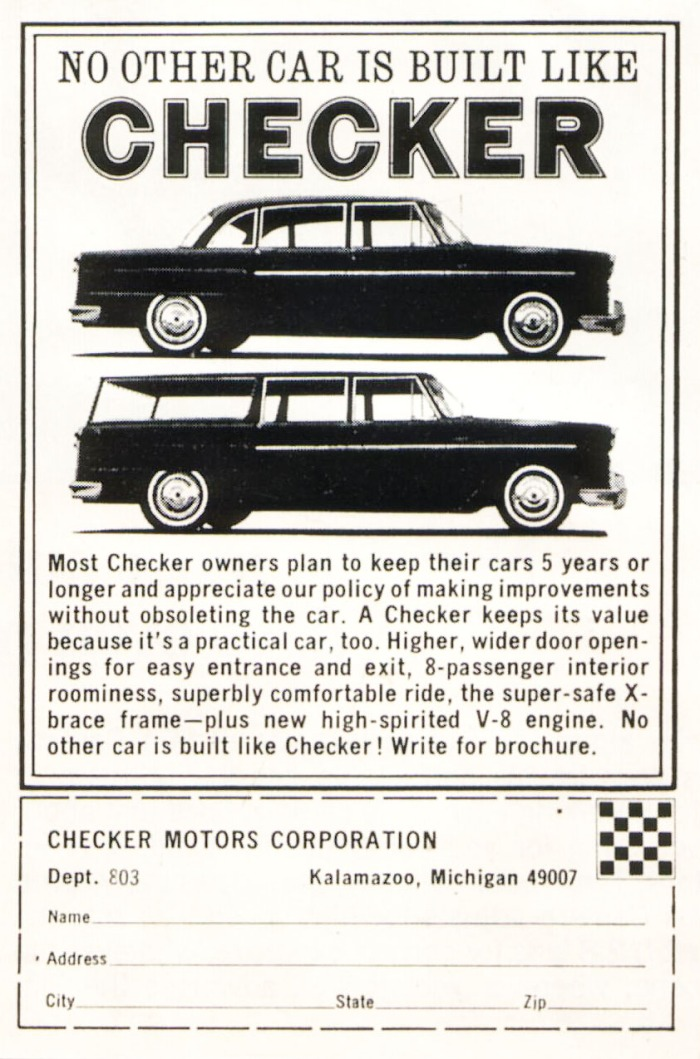 Publicidad Checker 1966