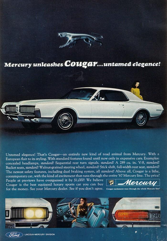 Publicidad Mercury Cougar 1966
