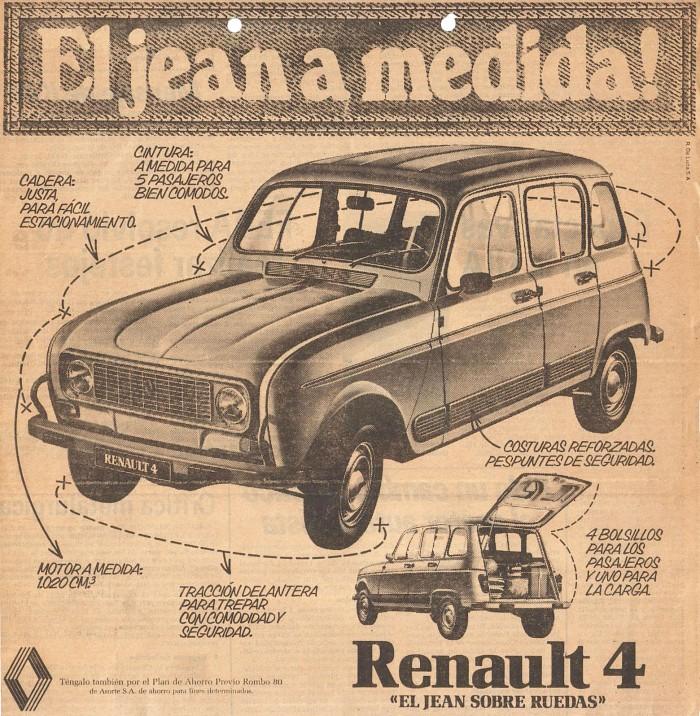 Publicidad Renault 4 1981