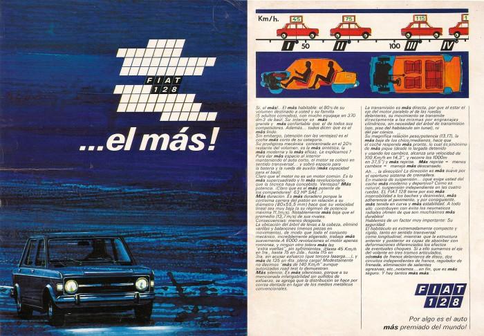 Publicidad Fiat 128 1971