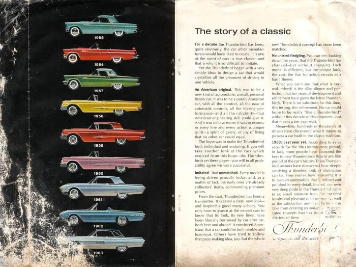 Publicidad Ford Thunderbird 1963