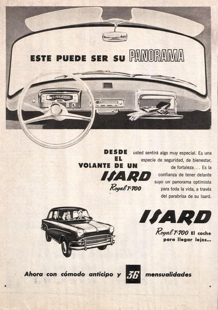 Publicidad Isard Royal T-700 1963
