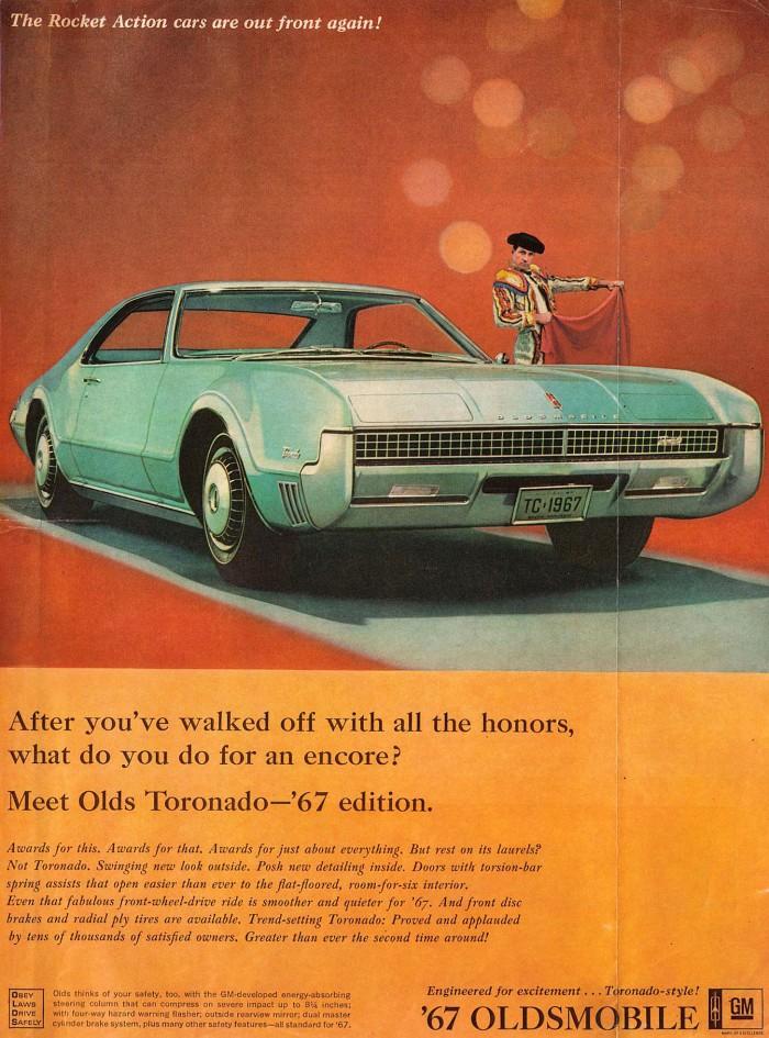 Publicidad Oldsmobile Toronado 1967