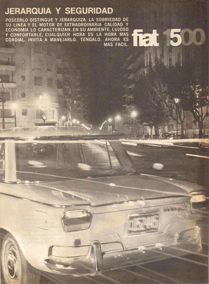 Publicidad Fiat 1500 1967