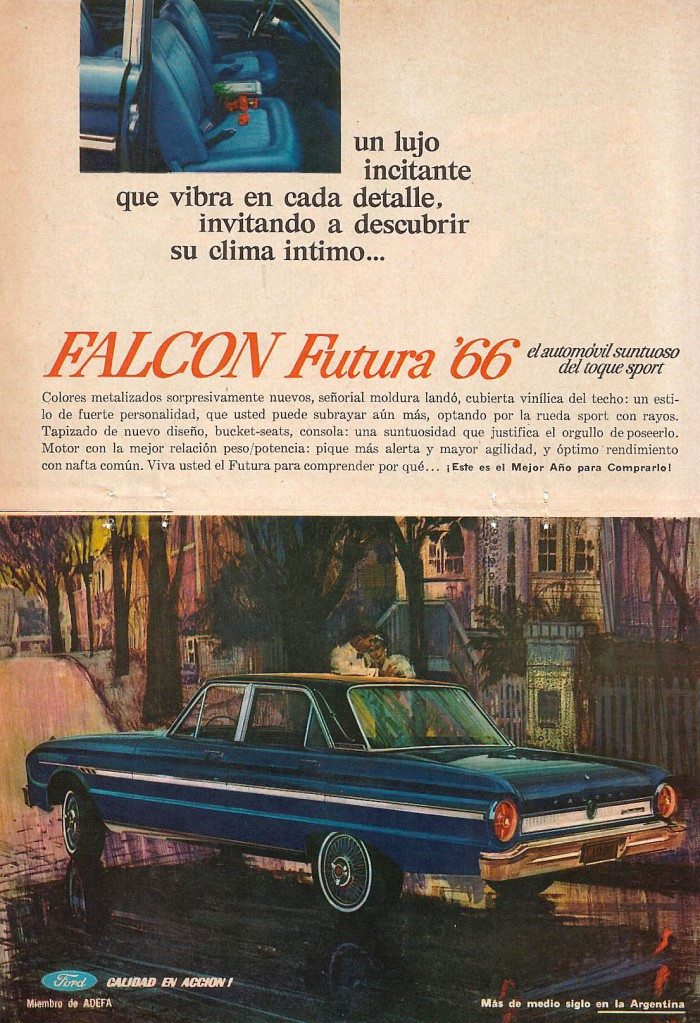 Publicidad Ford Falcon Futura 1966