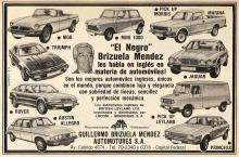 Publicidad Guillermo Brizuela Mendes Automotores 4 dic 1980