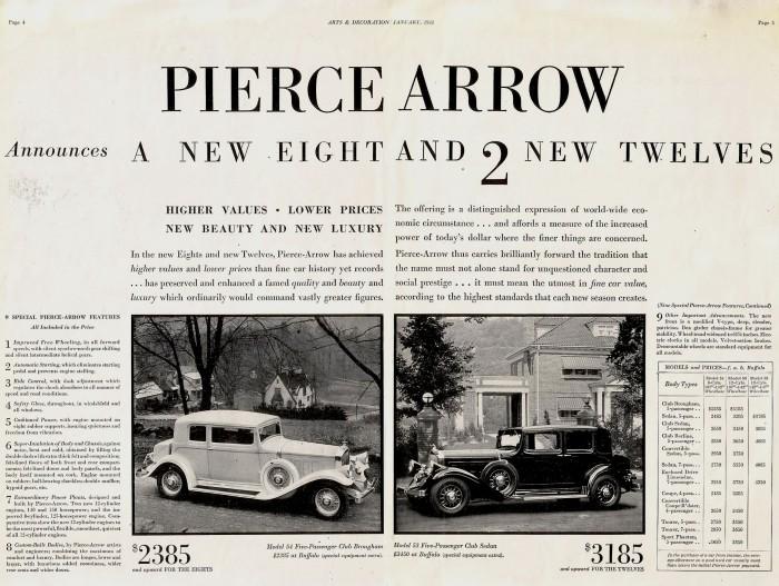 Publicidad Pierce-Arrow 1932