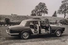 Otra imagen del Rolls-Royce Silver Shadow en su presentación para la prensa especializada.