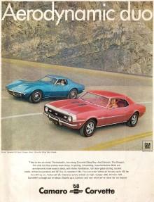 Publicidad Camaro y Corvette 1968