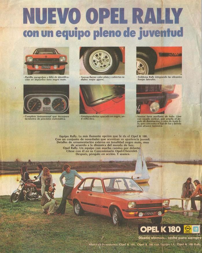 Publicidad Opel K 180 Rally 1977