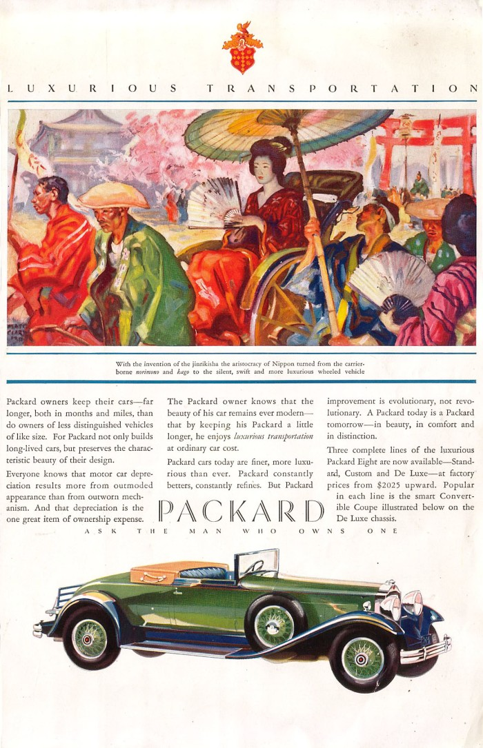 Publicidad Packard Convertible Coupe 1930