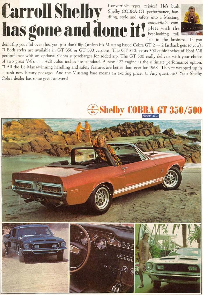 Publicidad Shelby Cobra GT 350-500 1967