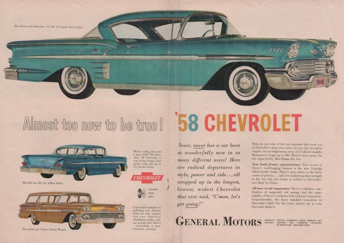 Chevrolet Bel Air 1958 aviso