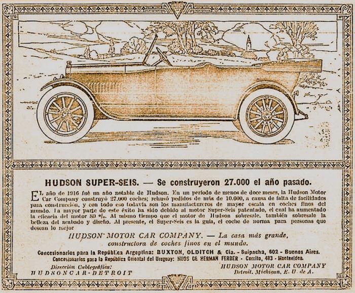 Hudson Super Six 1917