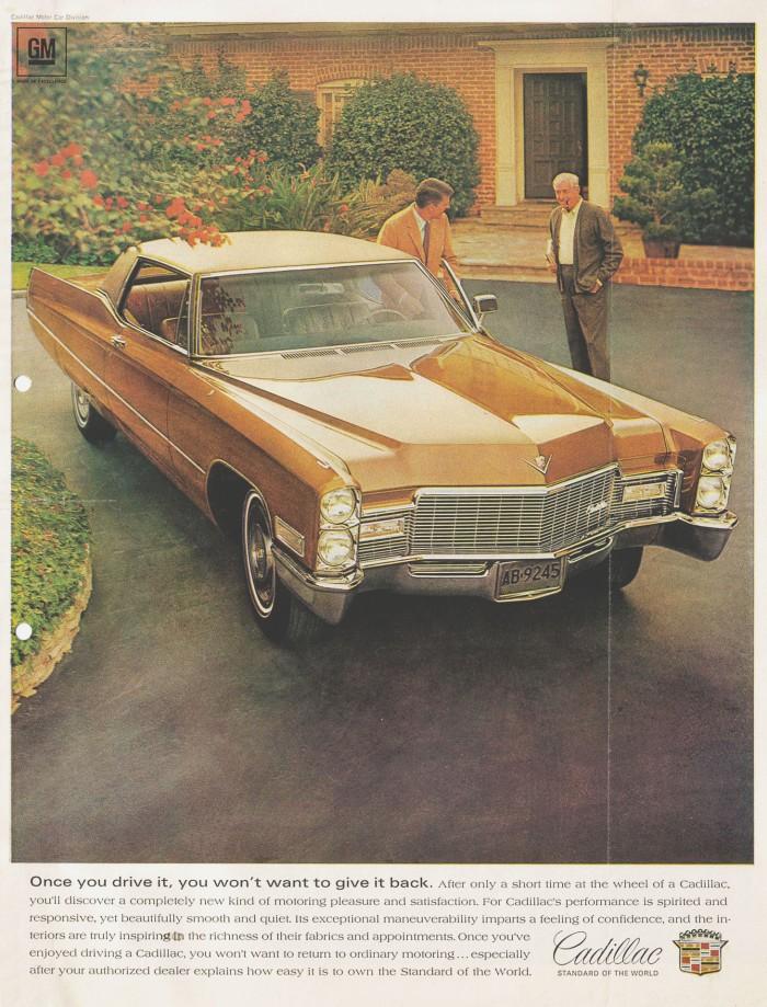Publicidad Cadillac cupé 1968
