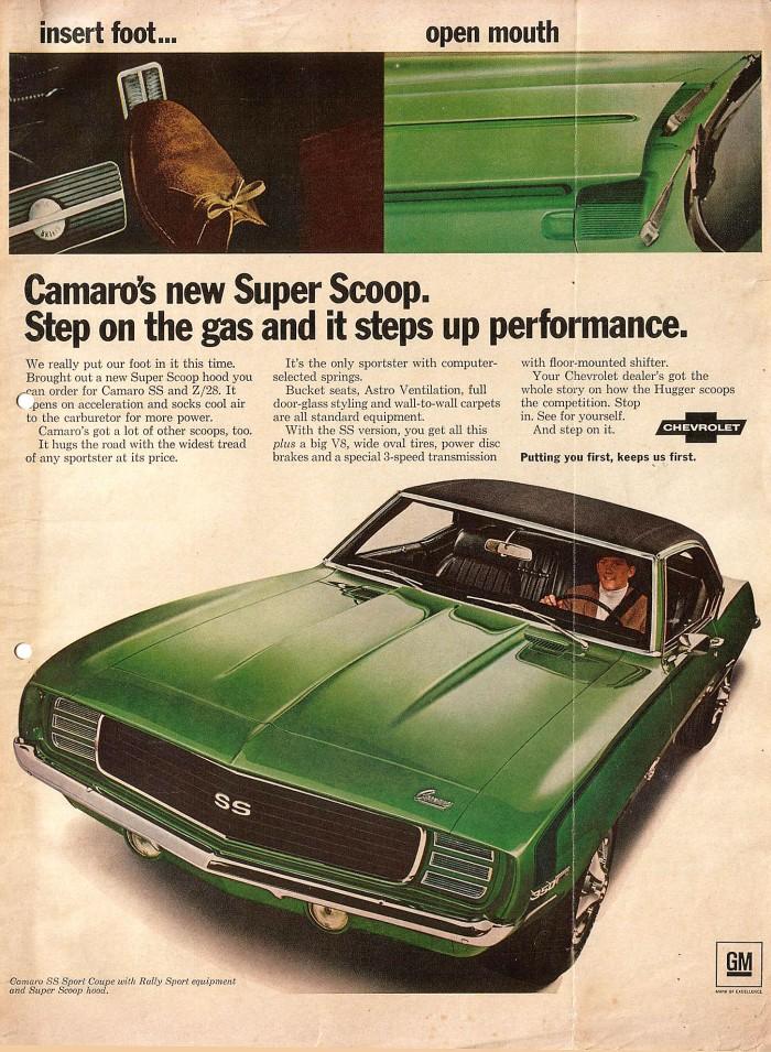 Publicidad Chevrolet Camaro 1969