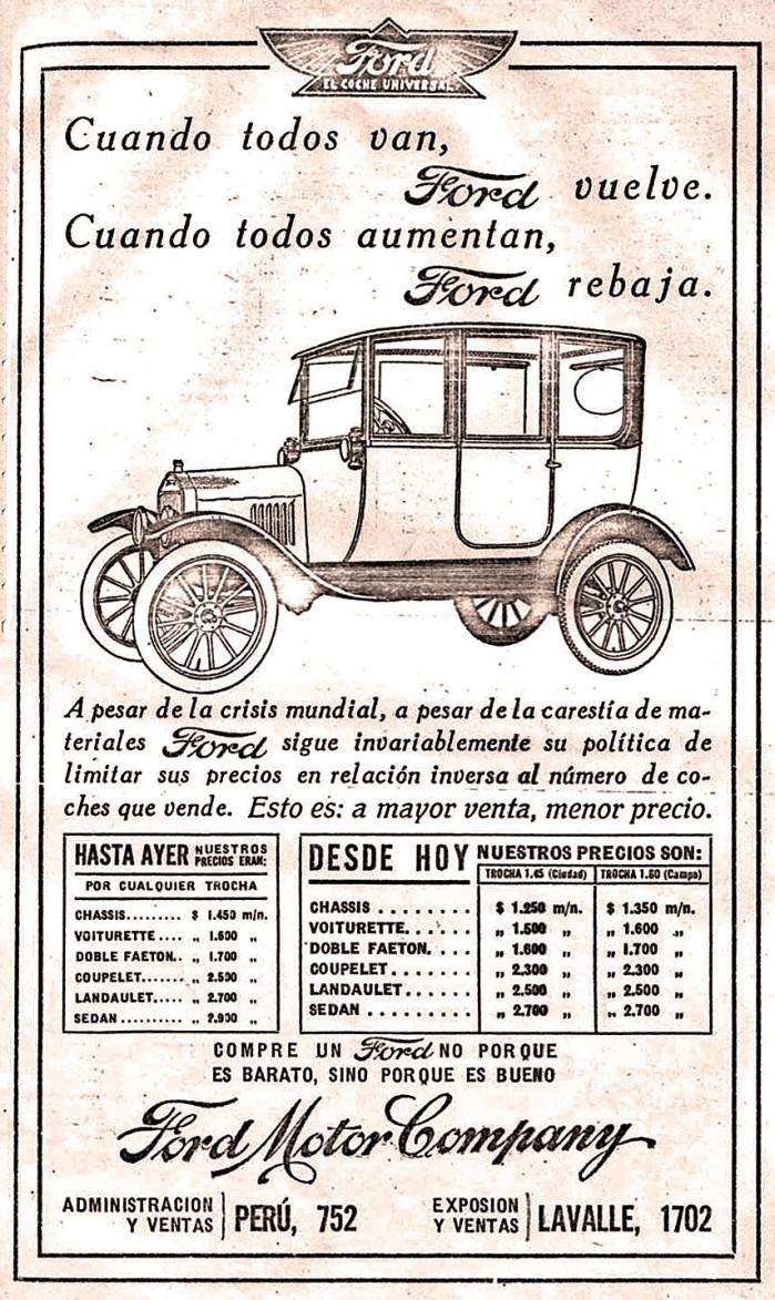 Publicidad Ford T 1918