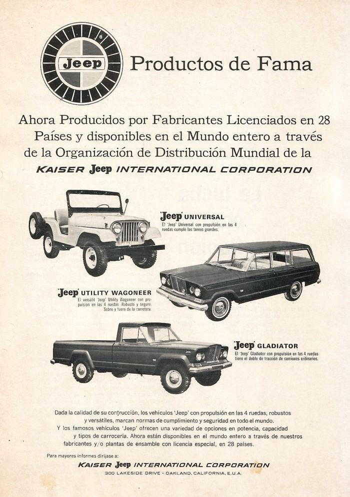 Publicidad modelos Jeep 1965