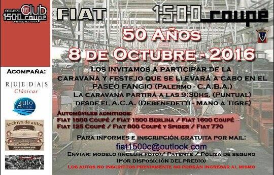 Afiche Fiat 1500 Coupé