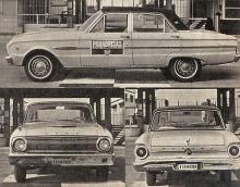 Perfil, trompa y cola del Ford Falcon Futura de 1965.