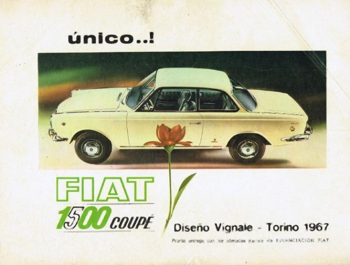Fiat 1500 Coupé publicidad
