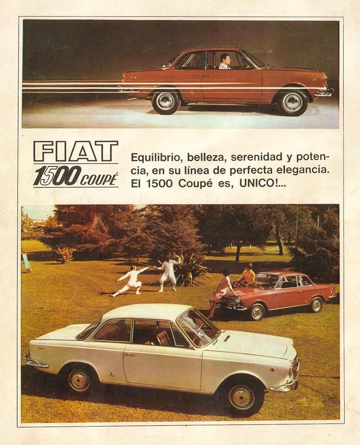 Publicidad Fiat 1500 Coupé 1967