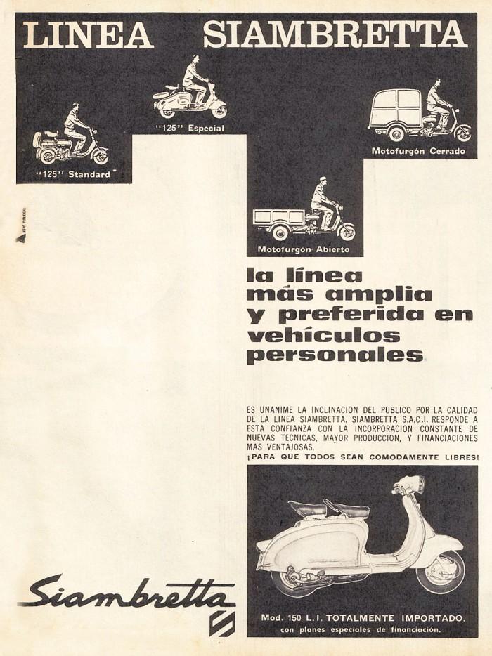 Publicidad Siambretta 125 1962