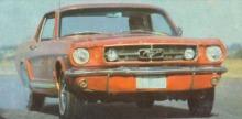 Trompa del Ford Mustang GT 300 del coronel Vega en plena prueba.